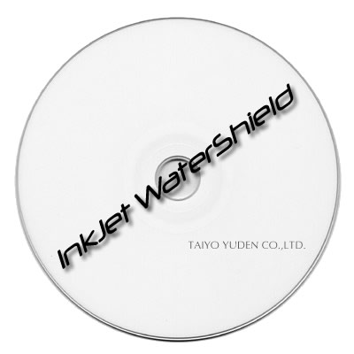 Taiyo DVD-R White Top WaterShield InkJet Printable