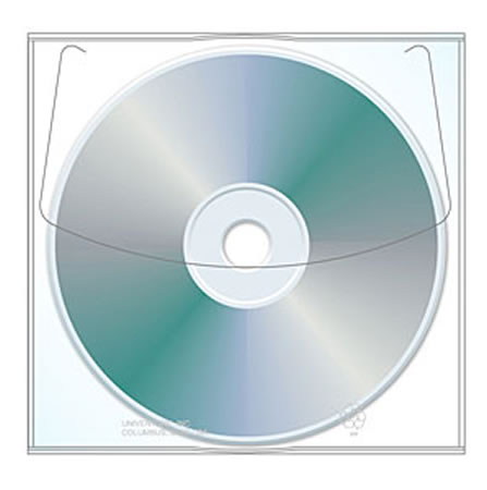 Clear CD/DVD Sleeve 50 pack