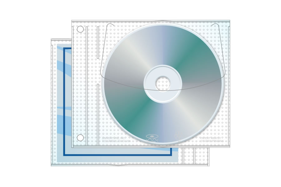 Vinyl Expanded Jewelpak CD/DVD Page 3 Ring Binder 100 Pack