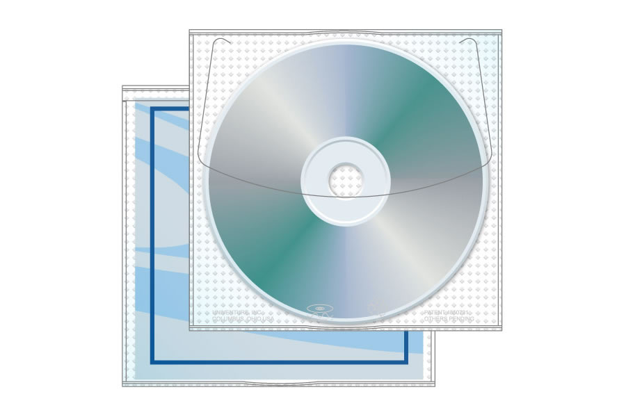 Vinyl Modified Jewelpak CD/DVD Sleeve With Pocket 100 Pack
